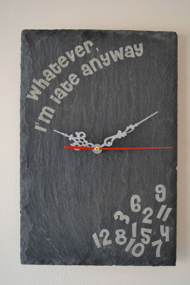 Best 25 slate art ideas on pinterest mosaic diy asian for Whatever clock diy