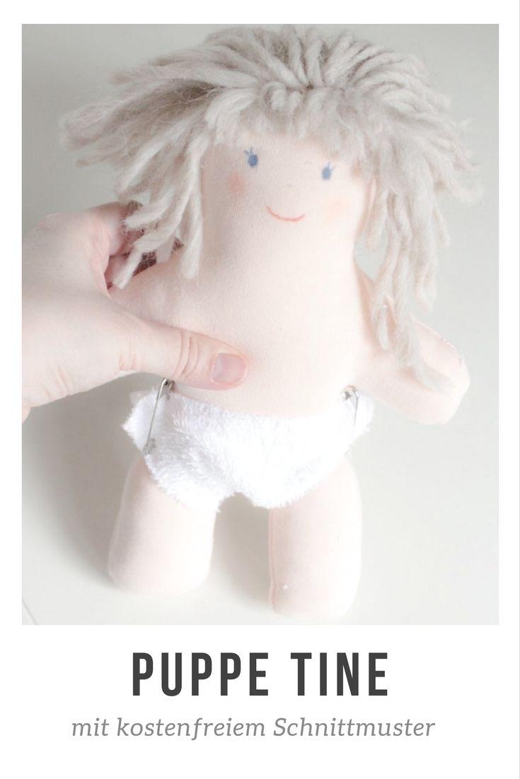 DIY: Puppe TINE nähen -  inklusive kostenfreiem Schnittmuster #nähen #schnittmuster #diy #anleitung #puppe