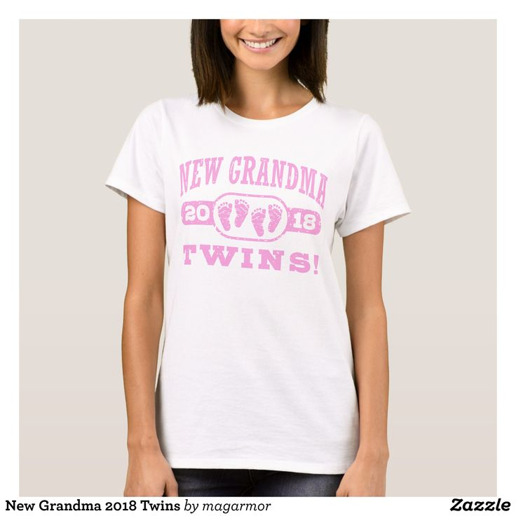 New Grandma 2018 Twins T-Shirt - Fashionable Women's Shirts By Creative Talented Graphic Designers - #shirts #tshirts #fashion #apparel #clothes #clothing #design #designer #fashiondesigner #style #trends #bargain #sale #shopping - Comfy casual and loose fitting long-sleeve heavyweight shirt is stylish and warm addition to anyone's wardrobe - This design is made from 6.0 oz pre-shrunk 100% cotton it wears well on anyone - The garment is double-needle stitched at the bottom and sleeve hems…