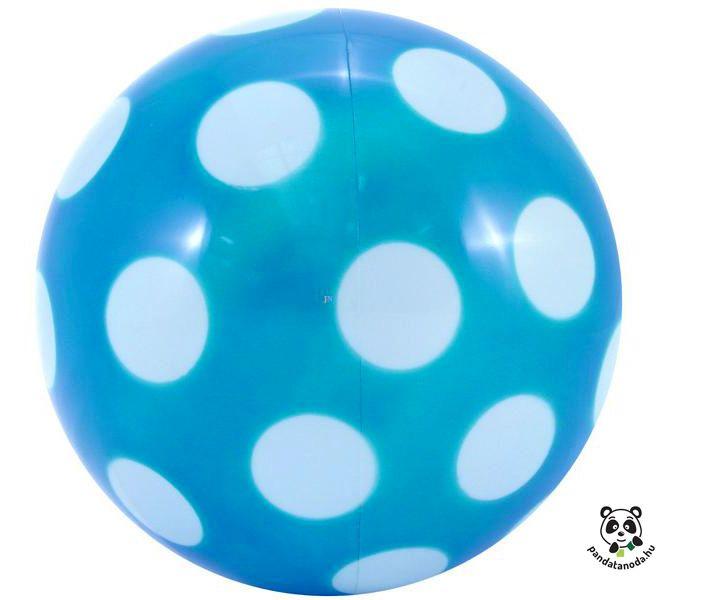 Kék pöttyös nagy labda 22cm | Pandatanoda.hu Játék webáruház