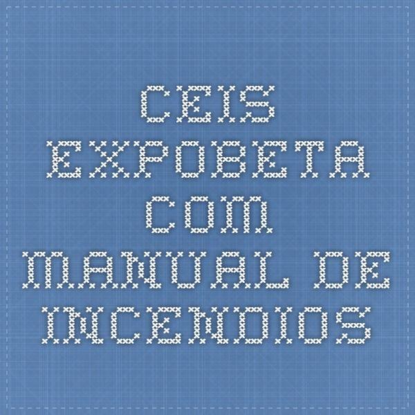ceis.expobeta.com manual de incendios
