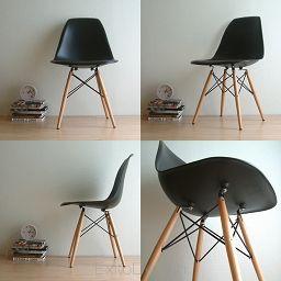 Krzesło inspirowane EAMES DSW black