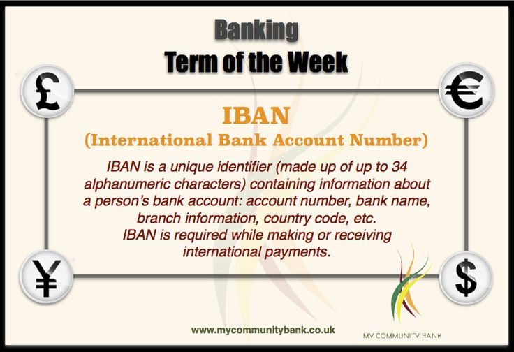 Banking Term of the Week by My Community Bank : IBAN Decoding Banking - one term at a time.   #‎Finance #‎CreditUnion #IBAN #Banking