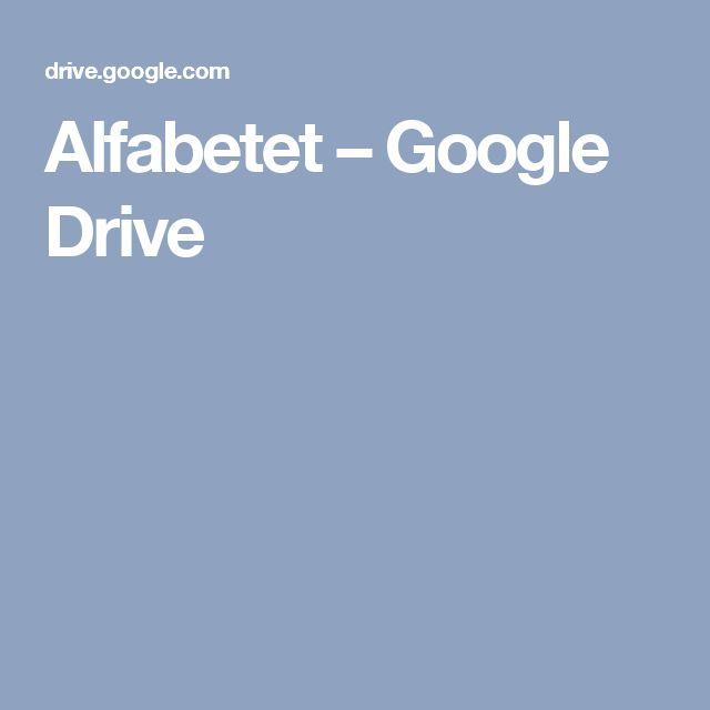 Alfabetet – Google Drive