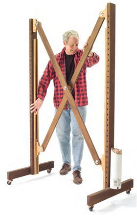 Use as a drying rack for painted & primed parts to dry     AW Extra - Small Shop Solutions - Popular Woodworking Magazine