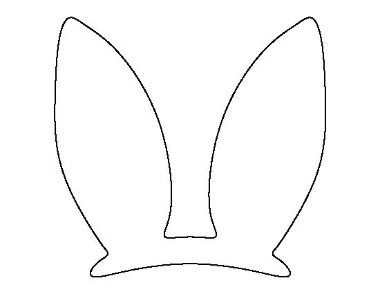 Easter Bunny ears pattern. Use the printable outline for crafts, creating stencils, scrapbooking, and more. Free PDF template to download and print at http://patternuniverse.com/download/easter-bunny-ears-pattern/