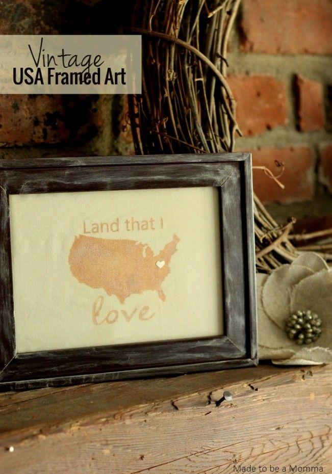 Vintage USA Framed Art