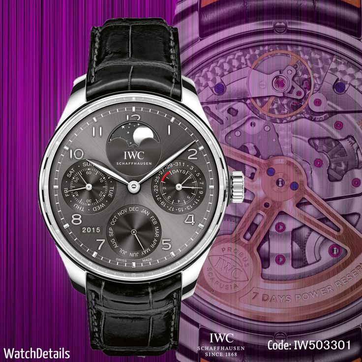Read more Portugieser Perpetual Calendar Reference 5033 IWC http://goo.gl/Ry407K #watches #fashion #style #watch
