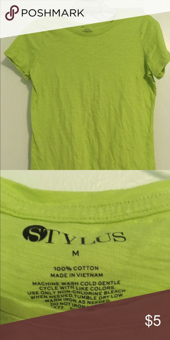 Green shirt Lime green shirt in like new condition. I only wore it two or three times. Tops Tees - Short Sleeve