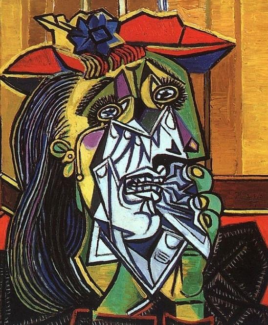 12. 피카소 - 우는여자  이 그림이 바로 피카소의 여성편력으로 정신적고통을 호소하는 도라마르를 그린 초상화이다. 하지만 도라마르의 피카소를 향한 사랑때문인지 그녀는 그녀의 삶에서 피카소가 자신을 그려준 그림을 항상 간직했다고 한다.