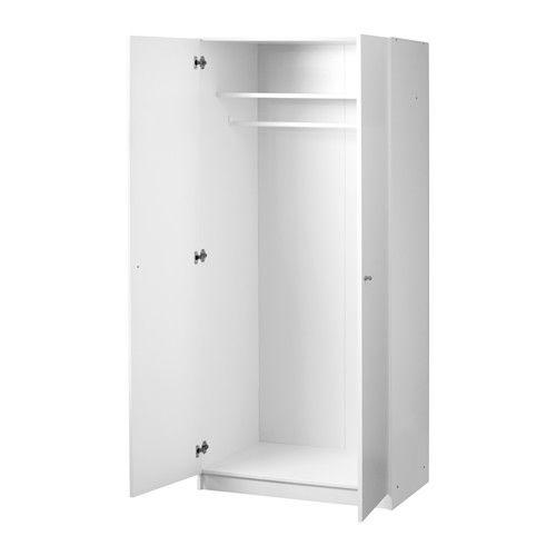 49,90€ en 80x180x50 et 7,5 de plinthe = on peut en mettre 2 côte à côte pour avoir 160 cm de tringle et rajouter tringle basse = 110 € environ le tout BOSTRAK Armoire-penderie  - IKEA