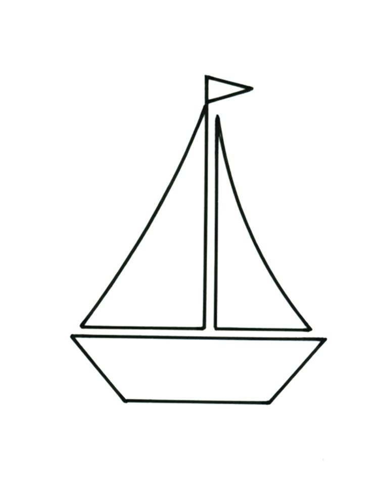 Sailboat cushion template