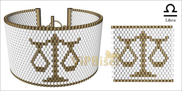 Beaded Bracelet Zodiac. Tutorial. Pattern7
