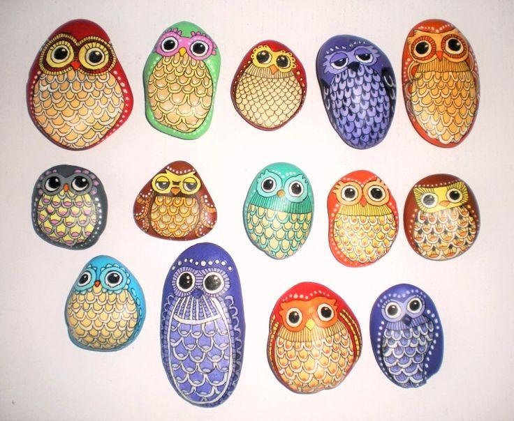 Malované kamínky sovičky pro radost