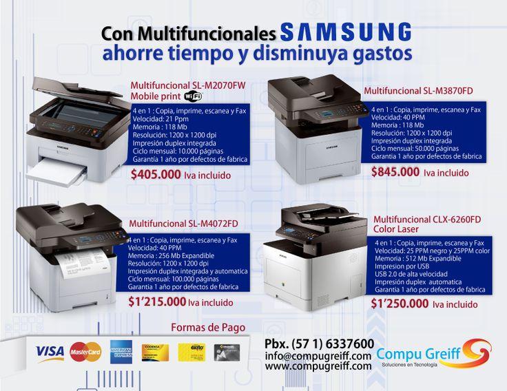 Con multifuncionales #Samsung ahorre tiempo y disminuya gastos