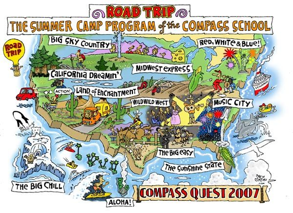 The Cartoon Map Capital Of The World - Fun Maps USA