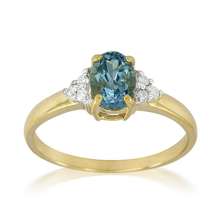 Bague de fiançailles en argent sertie d'une Aigue-Marine de Tatu et de Diamants - Bijoux de mariage bleu ciel - Juwelo Bijouterie en Ligne