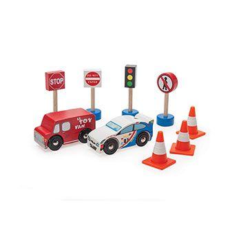 Ξύλινο σετ οχήματα δρόμου Le Toy Van