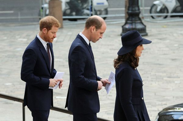 Kate Middleton Photos - Catherine, Duchess of Cambridge, Prince William, Duke of Cambridge (C) and Prince Harry leave the Grenfell Tower National Memorial Service held at St Paul's Cathedral on December 14, 2017 in London, England. The Royal Family and Prime Minister joined survivors of the Grenfell Tower at the memorial at St Paul's Cathedral for the six-month anniversary which killed 71 people - Grenfell Tower National Memoria #pregnancyat5weeks, #homeimprovementalBorland,