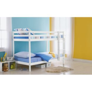 buy shorty pine bunk bed frame white at argoscouk your
