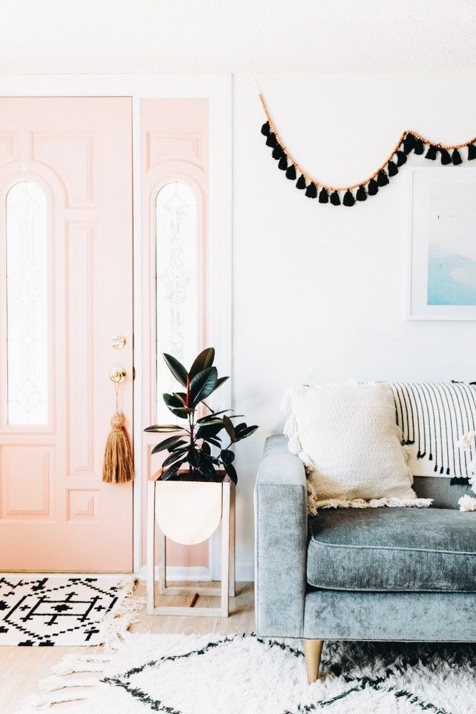 Love It All That Couch Is Gorgeous Love The Plant Holder And That Pink Door Is Amazing Home Decor Pink Home Decor Home #pink #decorations #for #living #room