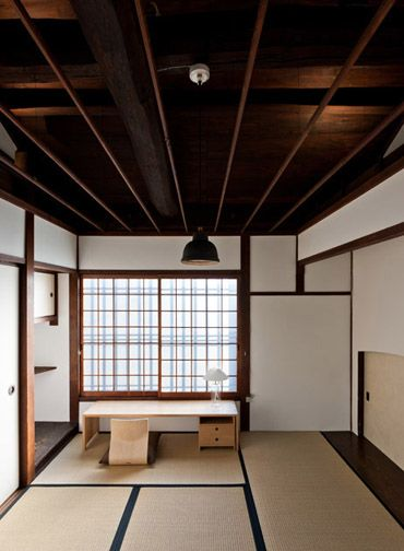 #Japan traditional folk hotel | I love this desk! I wonder if I could buy this somewhere, or if I could saw down something from Ikea...