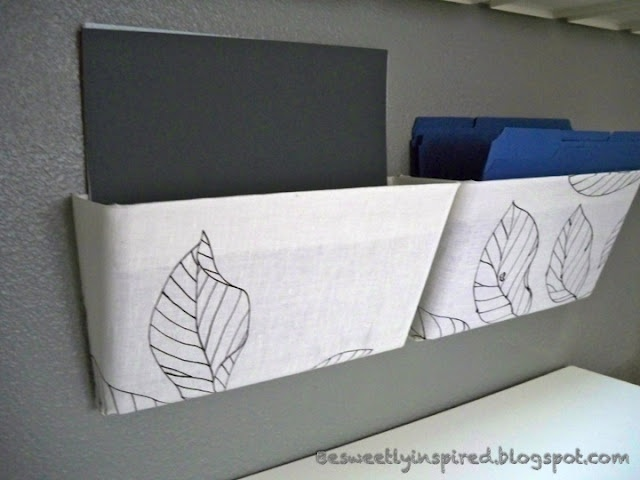 Fabric covered wall mounted files