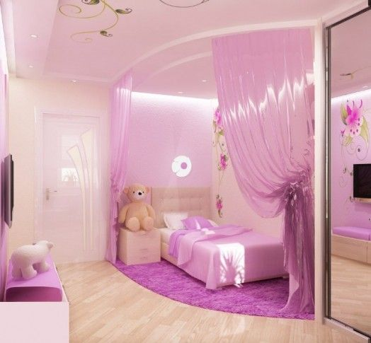 Pink bedroom design for a little princess click photo for more great images of this bedroom - Outstanding pictures of cool girl bedroom for your beloved daughters ...