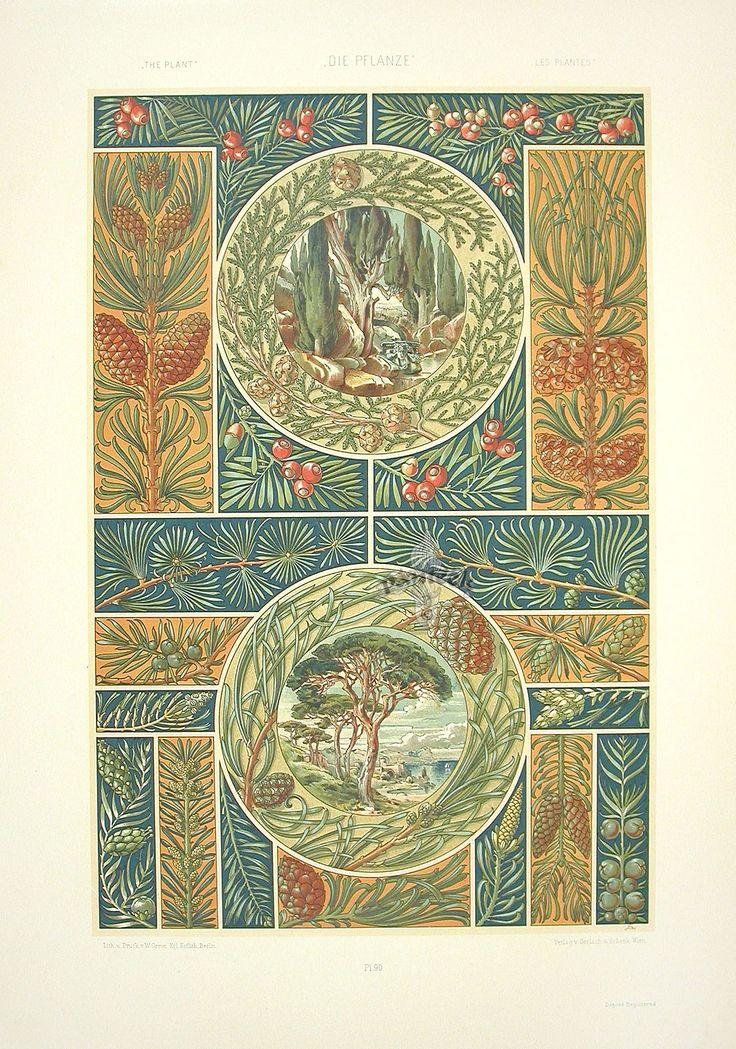 Anton Seder. Art Nouveau Prints 1890