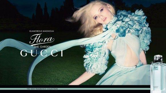 Рекламная кампания аромата Flora by Gucci с участием Эбби Ли Кершоу