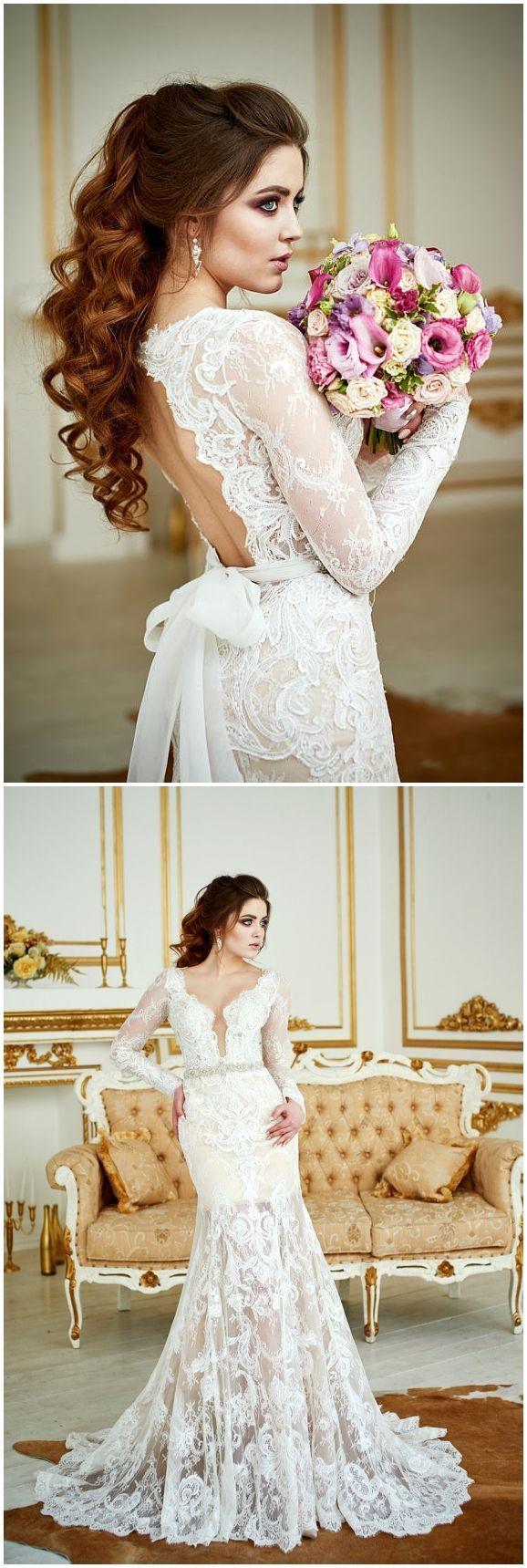 Wedding Dress Renaissance , Lace Wedding Dress, Bohemian Wedding Dress, Long Sleeve Dress, Open Back Gown, Vintage Wedding Dress, 2 in 1 #weddings #weddingideas #dresses #weddingdress