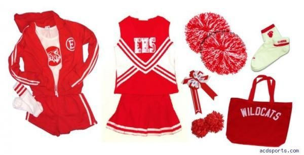 High School Musical Costumes Super Cheerleader Pkg New