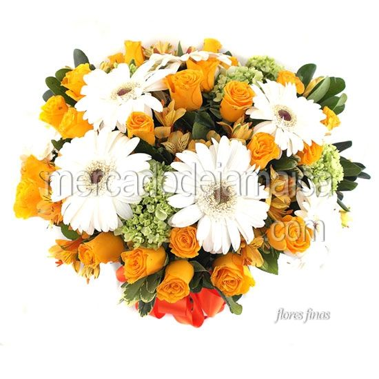 Arreglo con Gerberas Blancas Fanny !| Envia Flores