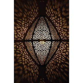 The original gobos! There really is nothing more beautiful than a room full of the patterns cast by Morrocan lanterns