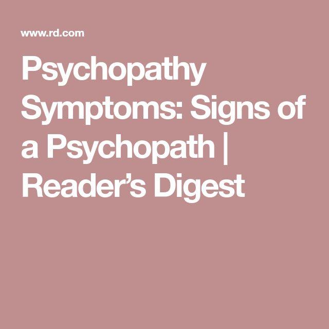 Psychopathy Symptoms: Signs of a Psychopath   Reader's Digest