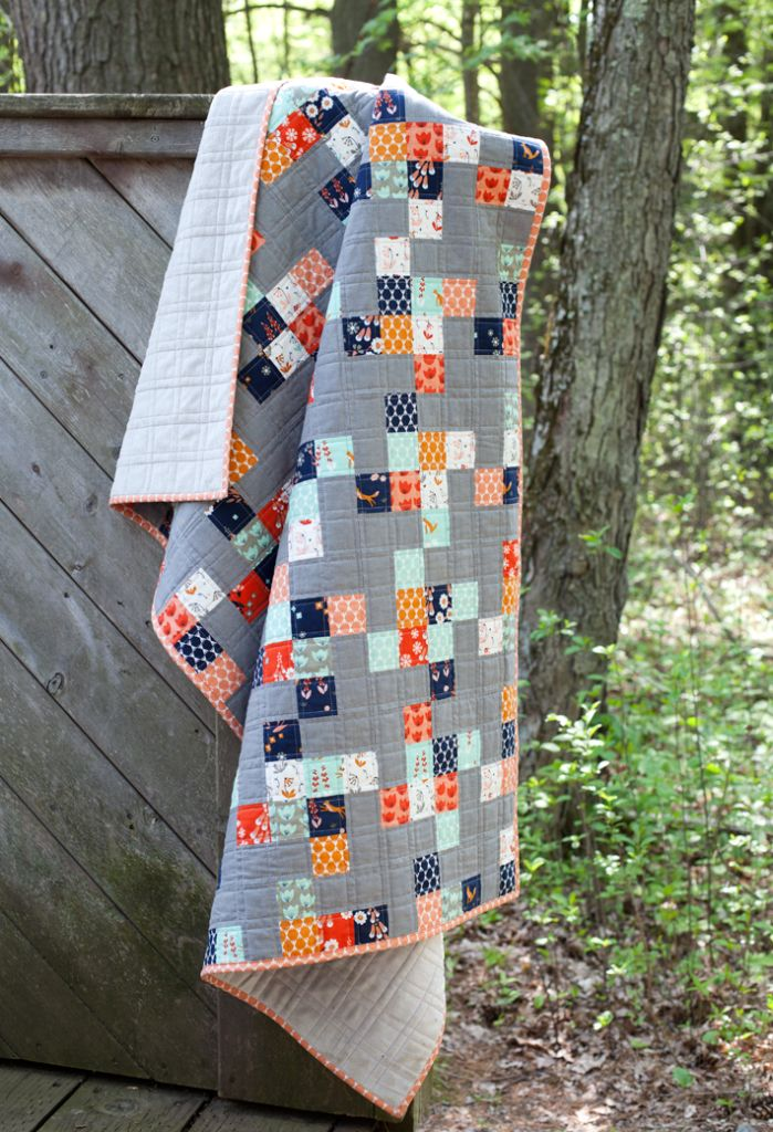 Foxglove Toddler Quilt by Stacy Olson