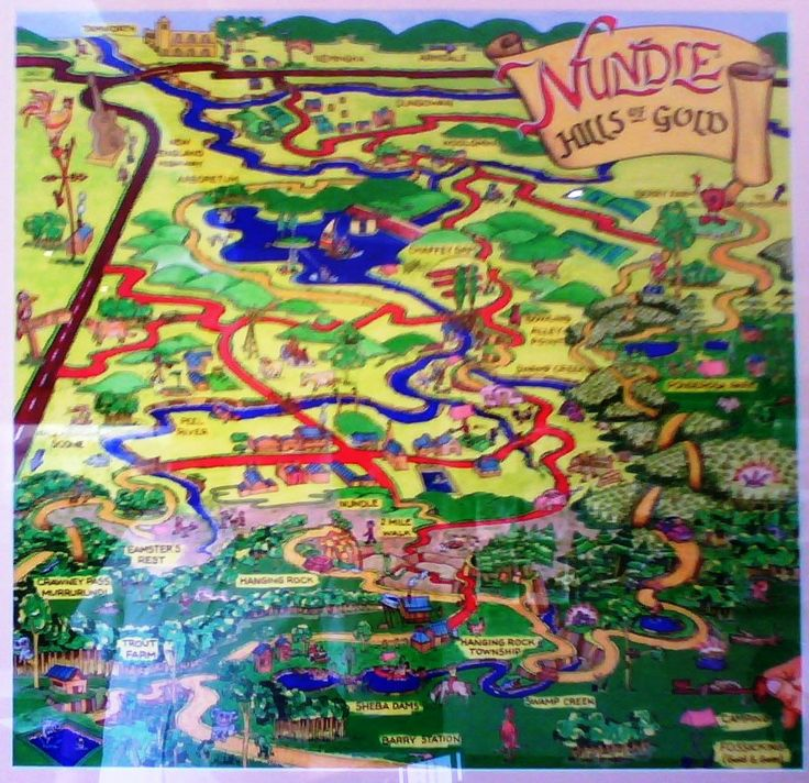 OLD MAP OF NUNDLE - on the wall at the Nundle Visitor Information Centre in Jenkins Street.