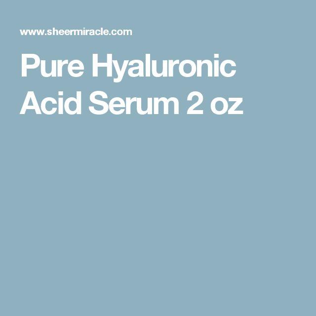Pure Hyaluronic Acid Serum 2 oz
