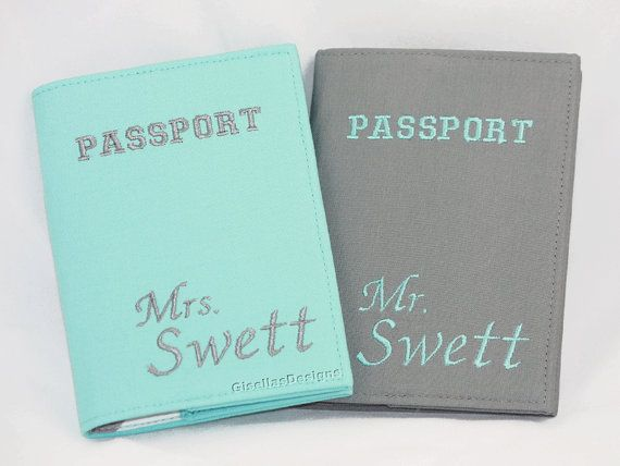 Custom Mr. and Mrs. Personalized Passport Cover, The perfect wedding gift!