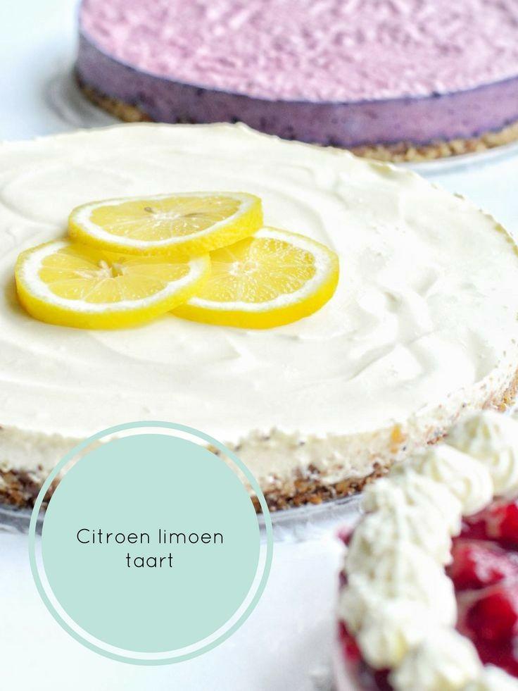 Een frisse citroen limoen taart (zowel veganistisch als niet-veganistisch te maken). The Early Morning Blog.