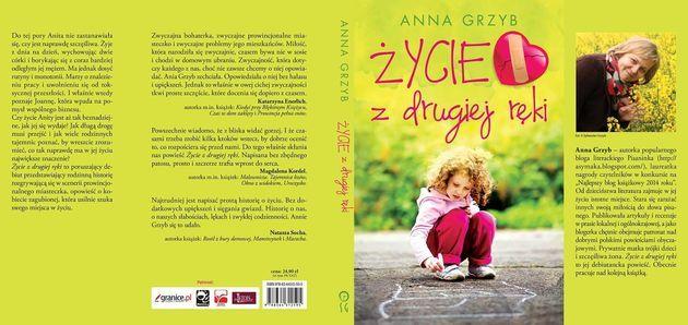 """Recenzja powieści Anny Grzyb """"Życie z drugiej ręki""""."""