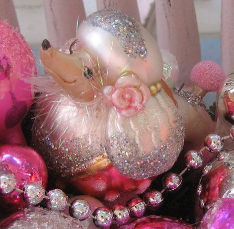 """Pink Poodle"" all Glittered Up! by Treasured Heirlooms, via Flickr"