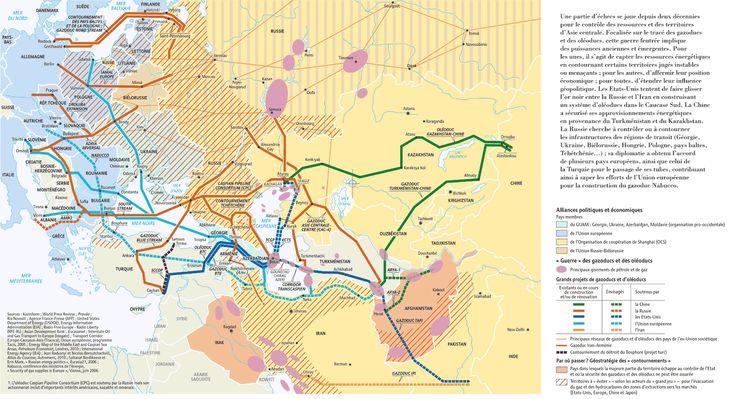 Géopolitique des tubes en Asie centrale, par Philippe Rekacewicz (Le Monde diplomatique, janvier 2011)