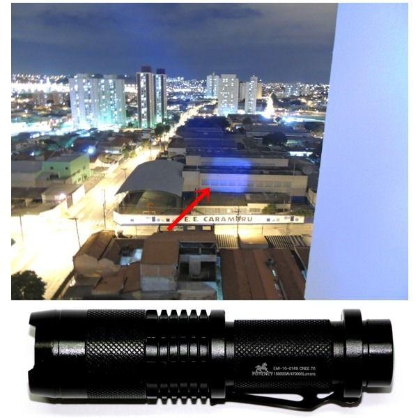Lanterna Tatica Led 168000w/470000 Lumens 1.8 Km Kit 40% Off - América Tático Aventura Artigos Militares Aventura Esportes Radicais e Camping.