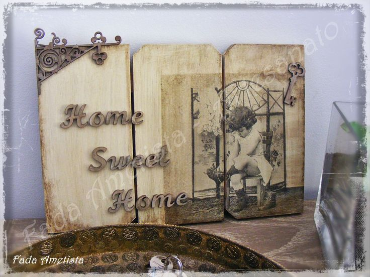 Home Sweet Home ● Vintage Home ● Home Decor - Decoupage