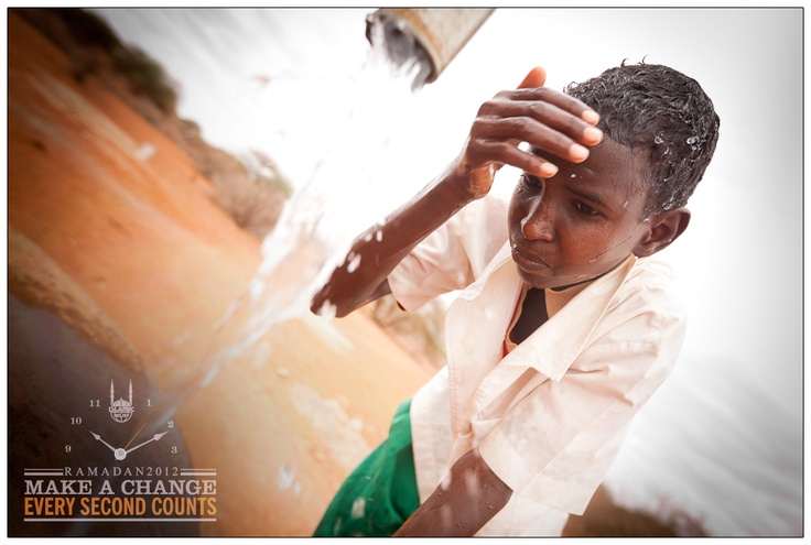 Ramadan Photo 2: We met Othman last year in West Wajir, #Kenya, at a #borehole that Islamic Relief USA donors helped provide. He was making #wadu (#ablution) to prepare for his next #prayer, & he allowed IRUSA's Ridwan Adhami to photograph him doing so. Right after he finished, he gave us a gracious smile while the water drops rolled down his face. MASHA'ALLAH!    Visit IRUSA.org/Water for more about IRUSA's water and sanitation programs.     (Photo credit: Ridwan Adhami for Islamic Relief…