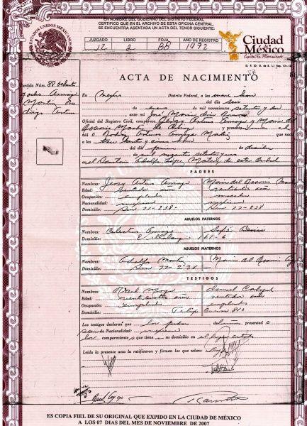 ACTAS DEL REGISTRO CIVIL EN MEXICO ACTAS DEL REGISTRO CIVIL EN MÉXICO DF