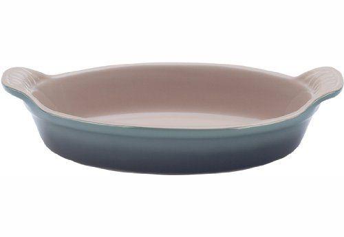 Le Creuset Heritage Stoneware 3.1-Quart Oval Au Gratin Dish, Fennel