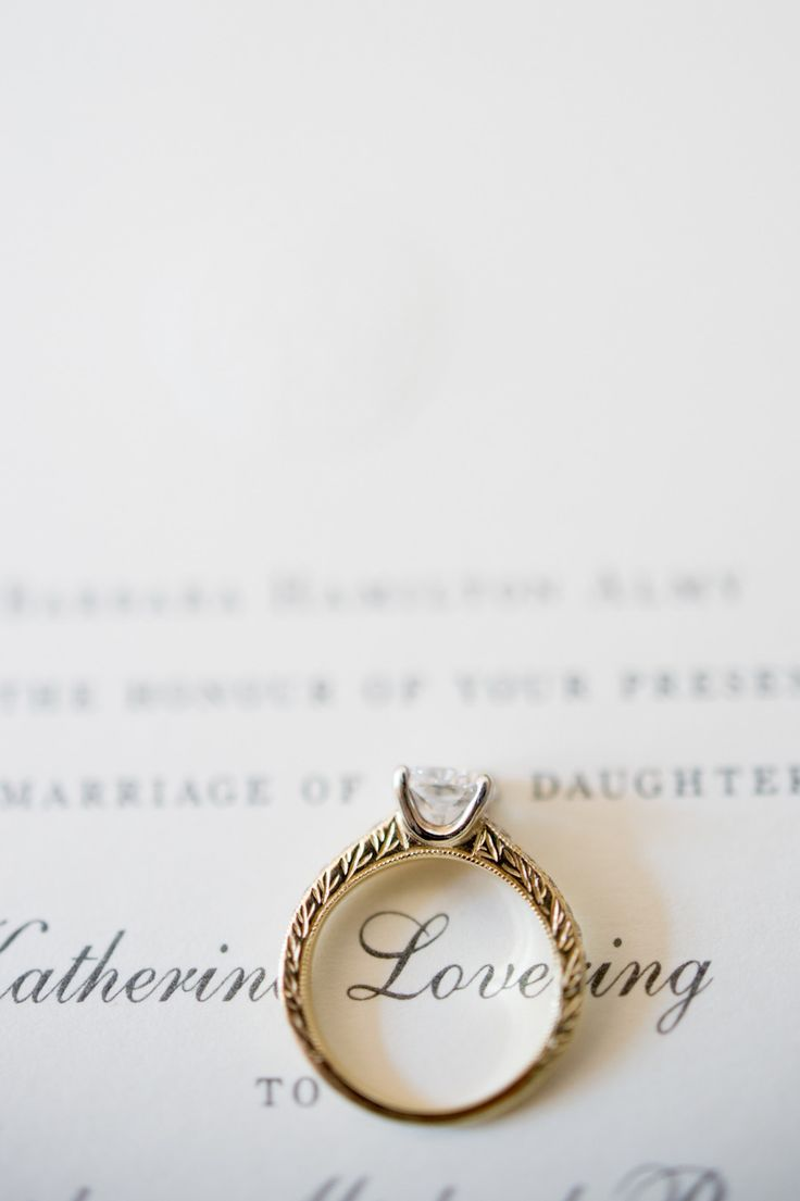 Engagement Ring - On SMP:  http://www.StyleMePretty.com/2014/06/04/classic-new-england-beach-club-wedding/ Photography: CarlaTenEyck.com