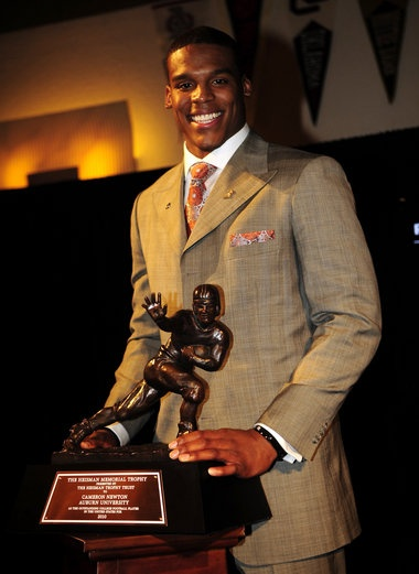 Heisman statues honoring Sullivan, Jackson, and Newton unveiled on A-Day 2012